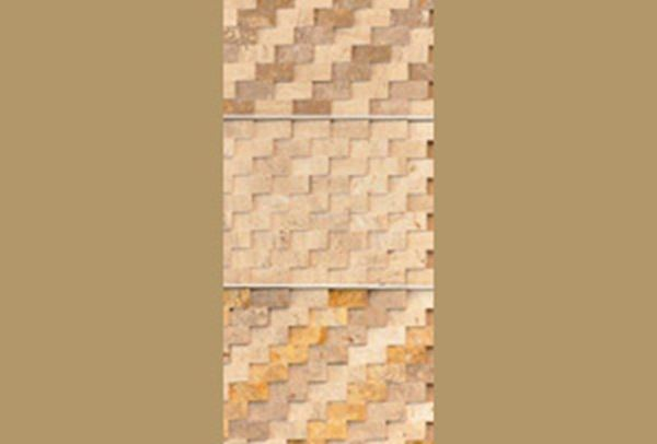 Picture of Travertine mosaics angle cut