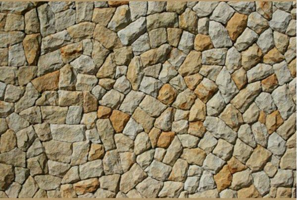 Picture of Hand-axed random white & gold sandstone